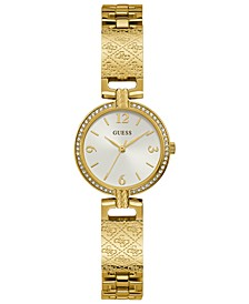 Women's Gold-Tone Stainless Steel Bangle Bracelet Watch 27mm