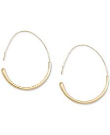 Gold-Tone Modern Hoop Earrings