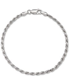 Rope Link Chain Bracelet in Sterling Silver, Created for Macy's