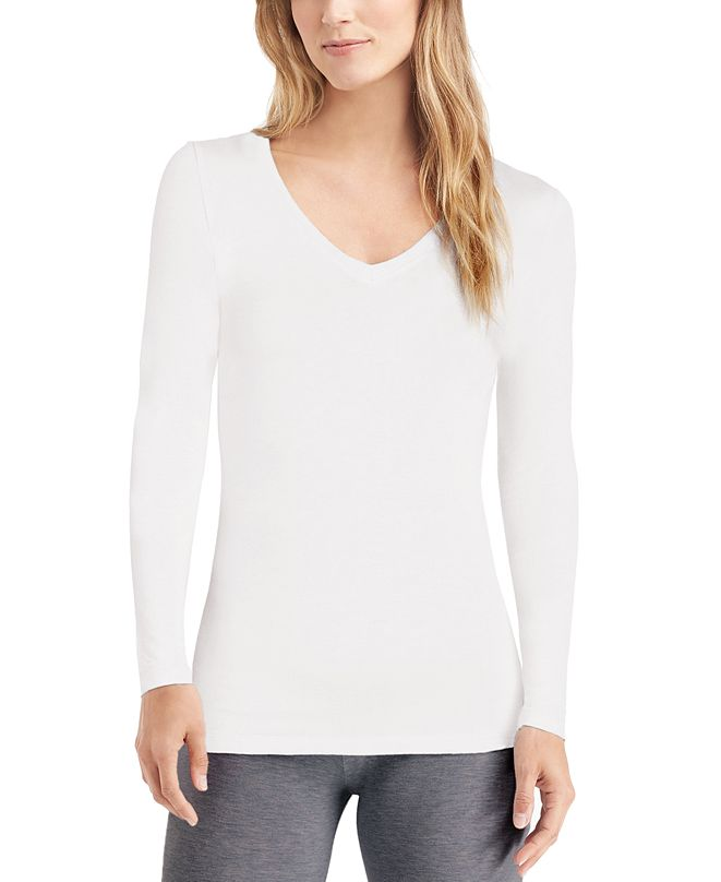 Cuddl Duds Softwear With Stretch Long-Sleeve V-Neck Top