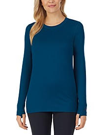 Far-Infrared Enhance Long-Sleeve Crewneck Top