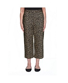 Women's Sateen Animal Print Misses Capri