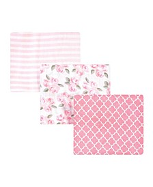 Baby Girls Beyoutiful Muslin Swaddle Blankets, Pack of 3