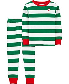 Toddler Boys and Girls 2-Piece Christmas Thermal Pajamas