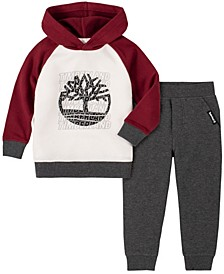Little Boys Fleece Hoody and Fleece Pant Set, 2 Piece