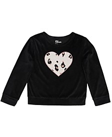 Toddler Girls Long Sleeve Graphic Mix and Match Sweatshirt
