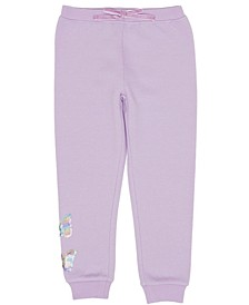 Little Girls Butterfly Inset Minky Sweatpant