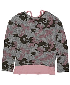 Big Girls Camo All Over Star Print Knit Sweater Top