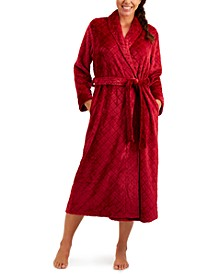 Long Diamond Cozy Robe, Created for Macy's