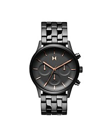 Women's Chronograph Duet Gunmetal Stainless Steel Bracelet Watch 38mm
