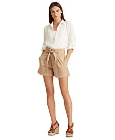 Belted Waist Chino Shorts
