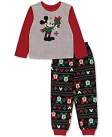 Matching Boys Holiday Mickey & Minnie Family Pajama Set