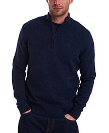 Men's Tisbury Quarter-Zip Rib-Cut Sweater