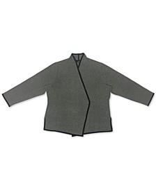 Plus Size Birdseye Blazer Sweater, Created for Macy's