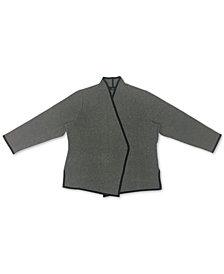 Alfani Plus Size Birdseye Blazer Sweater, Created for Macy's