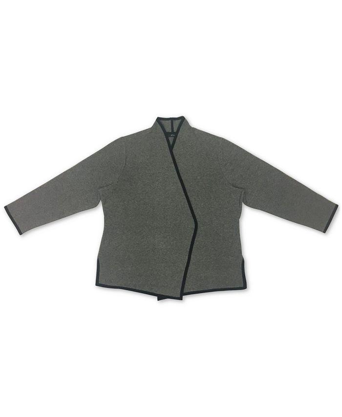 Alfani - Plus Size Birdseye Blazer Sweater