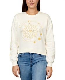 Juniors' Celestial Graphic Sweatshirt
