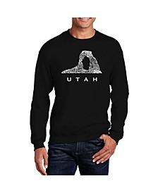 Big & Tall Men's Word Art Utah Crewneck Sweatshirt