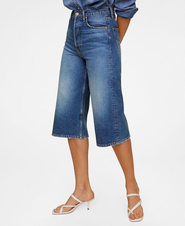 MANGO Women's Denim Bermuda Shorts