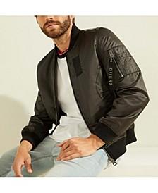 Men's Satin Bomber Jacket