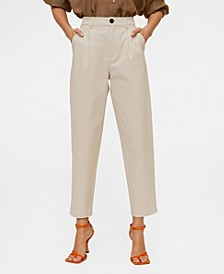 Women's Relaxed Fit Cropped Trousers