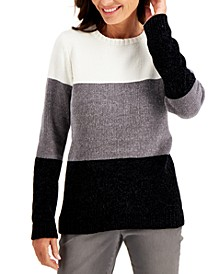 Chenille Colorblocked Sweater, Created for Macy's