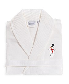 Waffle Weave Embroidered Bathrobe Collection