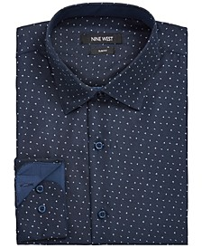 Men's Slim-Fit Performance Stretch Dash Arrow-Print Dress Shirt
