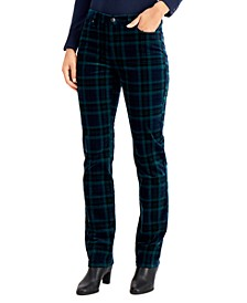 Plaid Straight-Leg Jeans, Created for Macy's