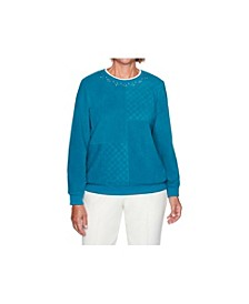 Women's Solid Anti-Pill Sweatshirt