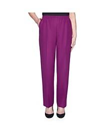Women's Misses Classic Textured Proportioned Medium Pant
