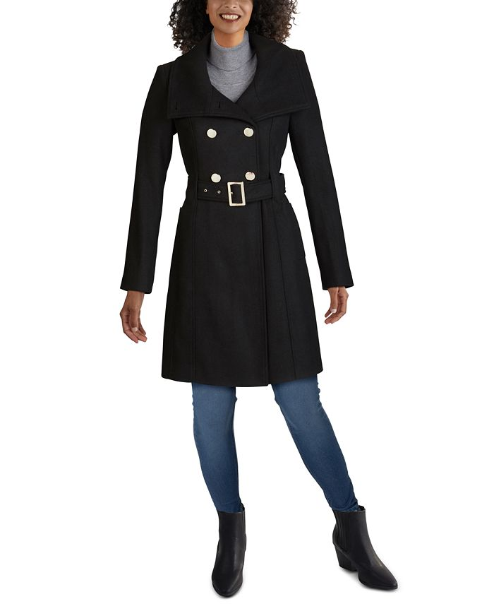 GUESS - Double-Breasted Belted Coat