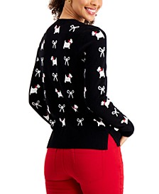 Printed Terrier Bow Sweater, Created for Macy's