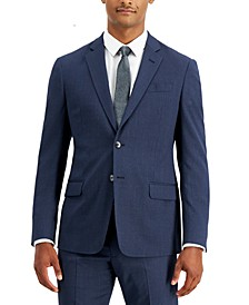 Men's Modern-Fit Blue Allover Pin-Dot Suit Separate Jacket