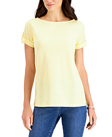 Charter Club Textured Dot Top, Created For Macy's