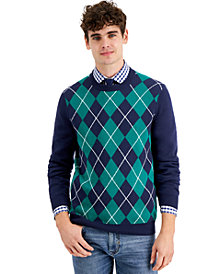 Charter Club Men's Argyle Sweater, Created for Macy's