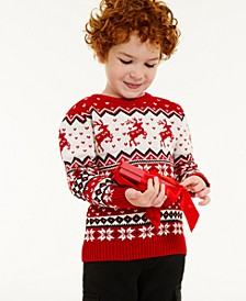 Toddler Boys Reindeer Sweater, Created for Macy's