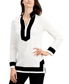 Ribbon-Trim Tunic, Created for Macy's