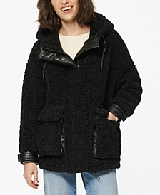 Saros Hooded Fleece Teddy Coat