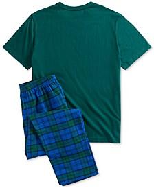 Men's Flannel Pants Pajama Set