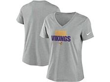 Minnesota Vikings Women's Local Tri-Blend V-neck T-Shirt