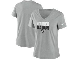 Nike Las Vegas Raiders Women's Local Tri-Blend V-neck T-Shirt