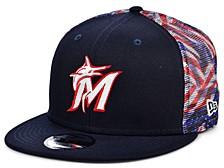 Miami Marlins Flag Mesh Back 9FIFTY Cap