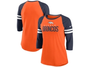 Nike Denver Broncos Women's Three-Quarter Sleeve Raglan Shirt