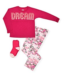 Big Girls Top and Pant with Cosy Socks