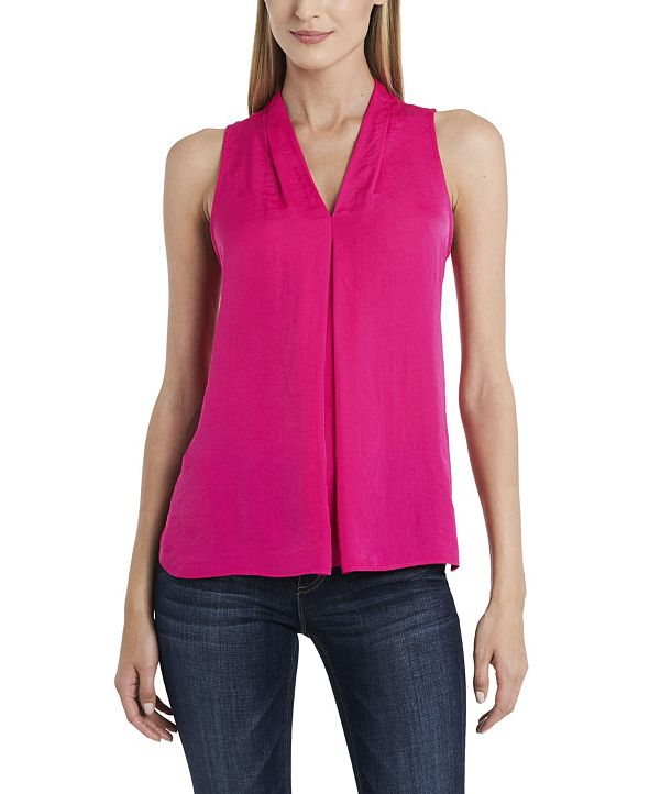 Vince Camuto Women's Inverted-Pleat Top