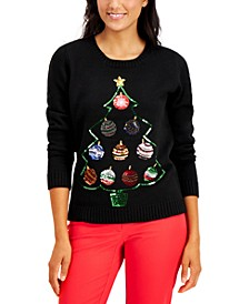 Sequined Ornament Sweater, Created for Macy's