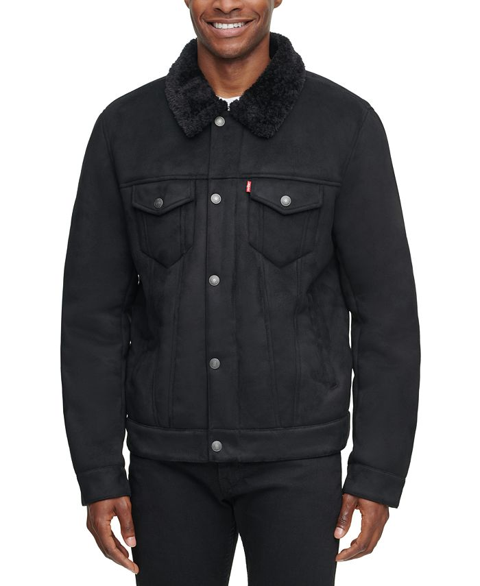 Levi's - Men's Relaxed-Fit Faux-Shearling Trucker Jacket