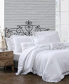 Davina Enzyme Ruffled 6 Piece Comforter Set, Twin