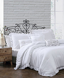 Montage Home Davina Enzyme Ruffled 6 Piece Comforter Set, King